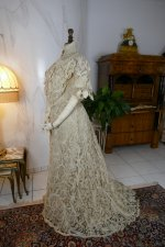 19 antique ALTMANN Battenburg lace dress 1904