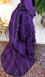 40 antique bustle dress 1874