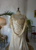 3 antique evening dress WORTH 1898