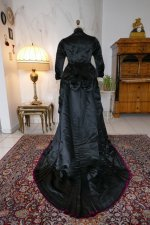 26 antique Pingat bustle dress 1880