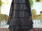 5b antique bustle gown