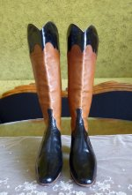 2 antique ridding boots 1890