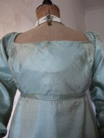 6 antique silk dress 1800