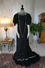 2 antique evening gown 1896