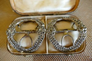 antique shoe buckles 1770