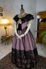 6 antique crinoline ball gown 1855