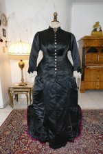 2 antique Pingat bustle dress 1880