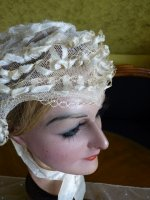 12 antique wedding bonnet 1850