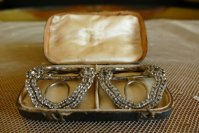 2 antique shoe buckles 1770