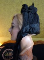 9 antique mourning bonnet