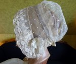 13 antique wedding bonnet 1840