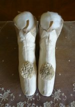 2 antique wedding boots 1845