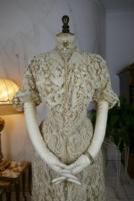 17 antique ALTMANN Battenburg lace dress 1904