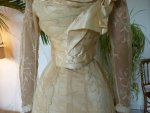 10 antique evening gown JEANNE HALLE 1899