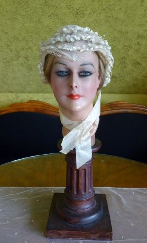 antique wedding bonnet 1850