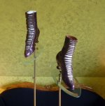 14 antique glass shoe stands 1900