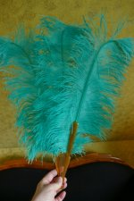 4 antique feather fan 1920