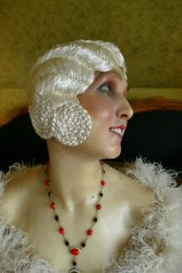 antique hair cloche 1920
