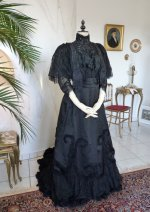 21 antique Worth evening dress 1898