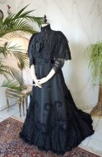 22 antique Worth evening dress 1898