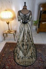 34 antique ball gown 1900