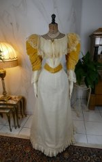 2 antique evening dress 1895