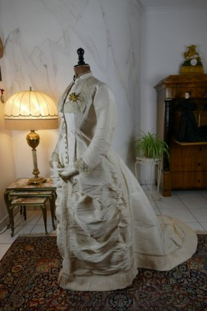 antique wedding dress 1878