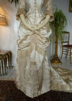 20 antique bustle wedding gown 1879