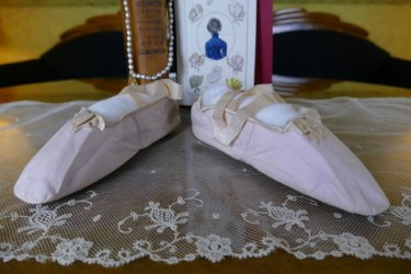 antique empire slippers 1811