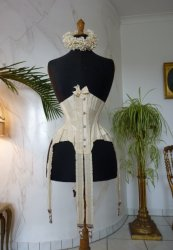 antique wedding corset 1885