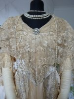 5 antique evening gown Worth 1910