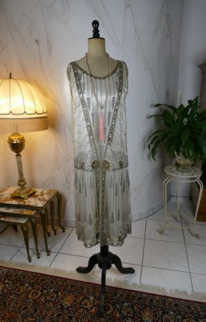 antique flapper evening dress 1920