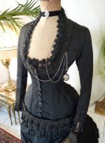 20 antique mourning dress 1879