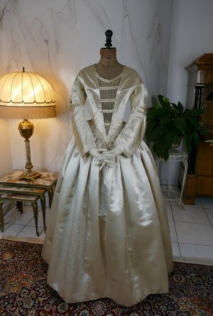 antique wedding dress 1845