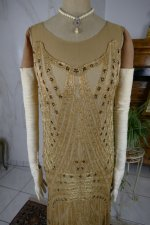 3 antique beaded flapper evening dress 1922