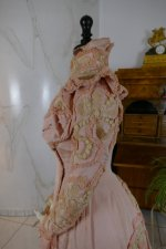 20 antique Rousset Paris society dress 1899