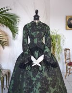 14 antique reception gown 1856