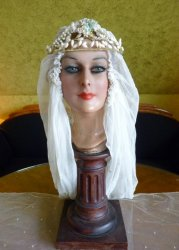 antique wax tiara 1920