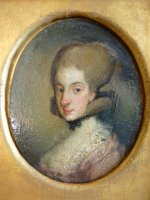 6 antique miniature portrait 1770