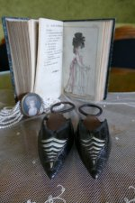 3 antique rococo overshoes 1792