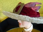 6 antique hat Titanic Cameron 1912
