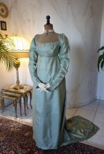 2 antique silk dress 1800