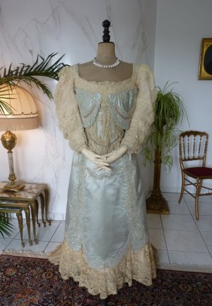 antique evening gown Worth 1894