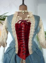 5 antique Ball gown 1876