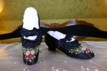 antique PINET evening shoes 1870
