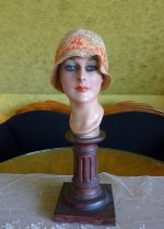 2 antique cloche hat 1927