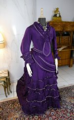 4 antique bustle dress 1874