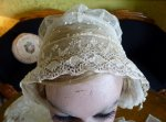 8 antique wedding bonnet 1840