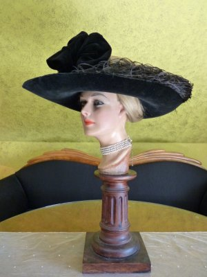 antique lampshade hat 1912