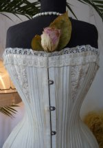 3 antique bridal corset